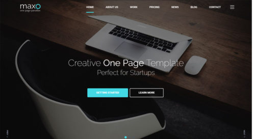 Maxo One Page Parallax Html Template
