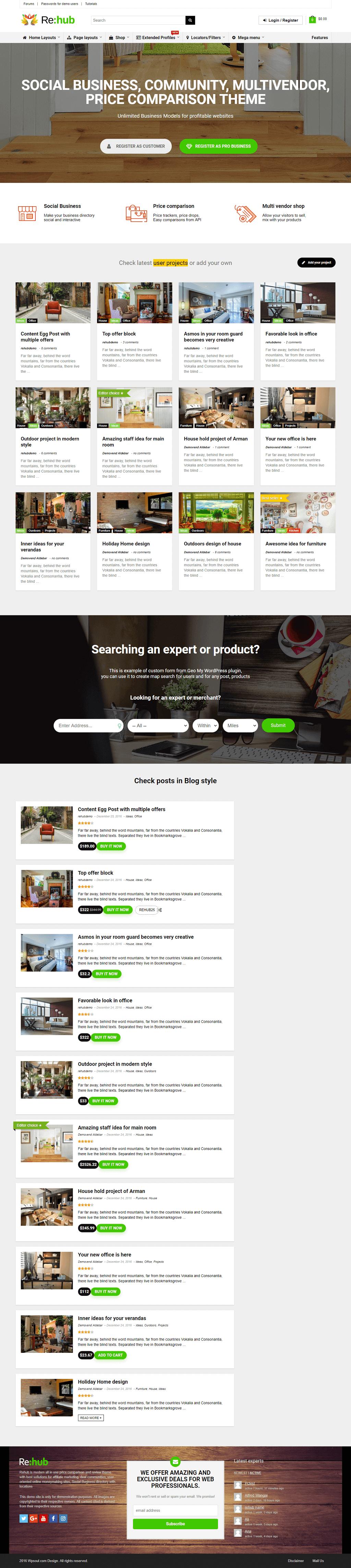 REHub MultiPurpose Community Wordpress Theme