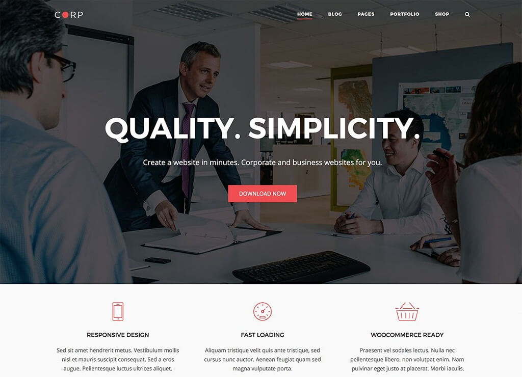 Corp Business WordPress Theme