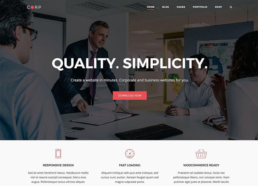 Corp Business WordPress Theme