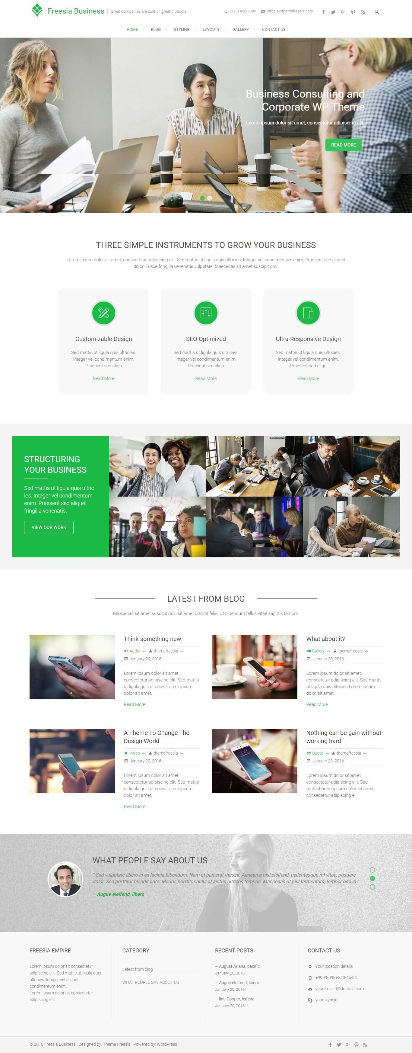 Freesia Business
