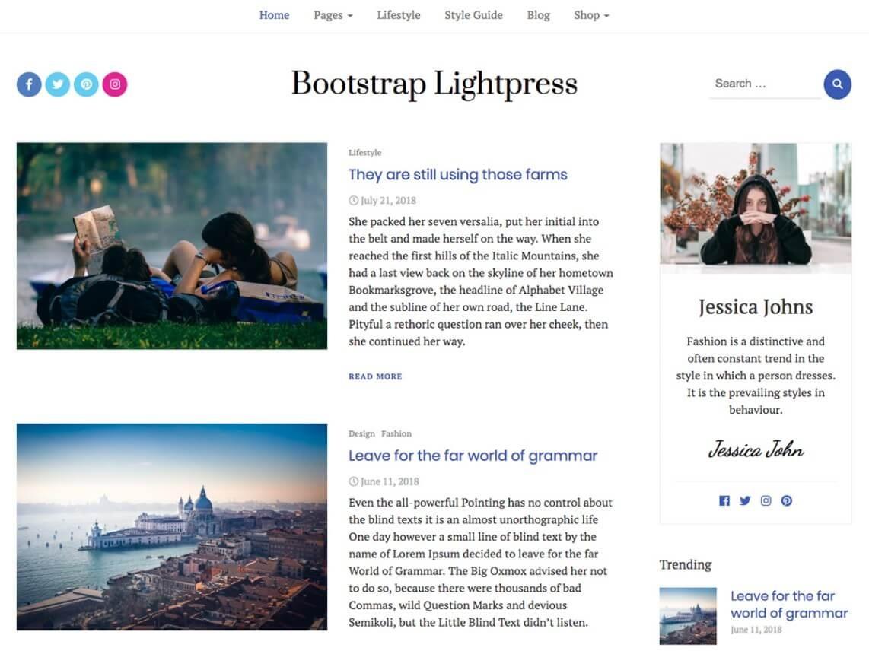 Bootstrap Lightpress